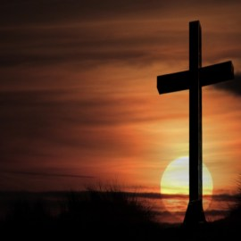 Cross in Sunset Wallpaper