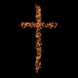 Cross of Fire Wallpaper