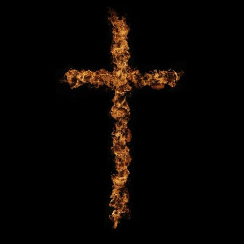 Cross of Fire christian wallpaper free download. Use on PC, Mac, Android, iPhone or any device you like.