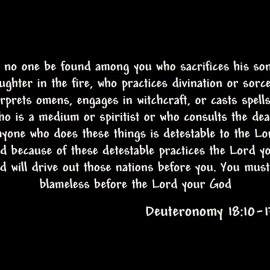 Deuteronomy 18: 10-13 Wallpaper