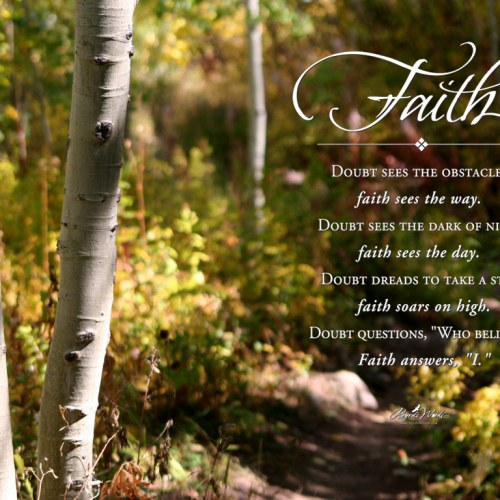 Doubt and Faith christian wallpaper free download. Use on PC, Mac, Android, iPhone or any device you like.