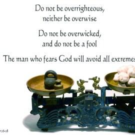 Ecclesiastes 7:16-18 Wallpaper
