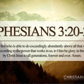 Ephesians 3:20-21 Wallpaper