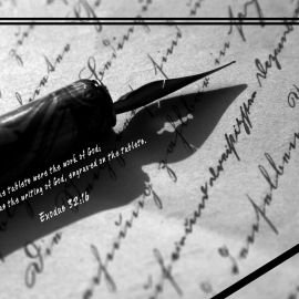 Exodus 32:16 Wallpaper