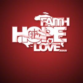 Faith, Hope, Love Wallpaper