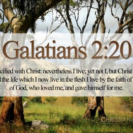 Galatians 2:20 Wallpaper