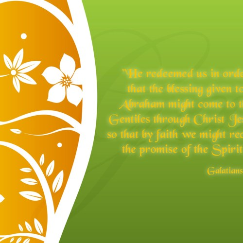 Galatians 3:14 christian wallpaper free download. Use on PC, Mac, Android, iPhone or any device you like.
