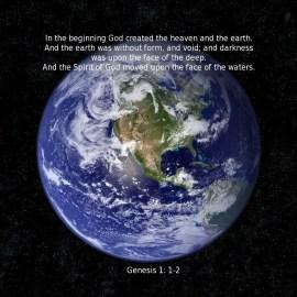 Genesis 1:1-2 Wallpaper
