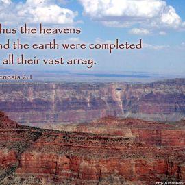 Genesis 2:1 Wallpaper