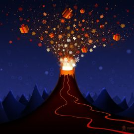 Gift Volcano Wallpaper