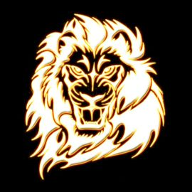 Golden Lion Wallpaper
