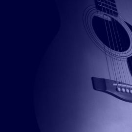 Guitar blue Wallpaper