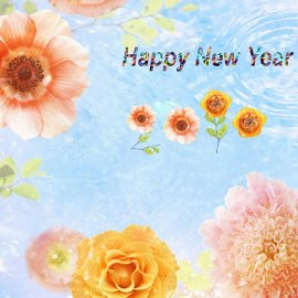 Happy New Year – Blossom Wallpaper