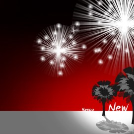 Happy New Year – Fireworks Wallpaper
