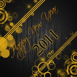 Happy New Year – Golden Wallpaper