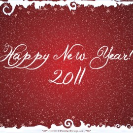 Happy New Year – Red Wallpaper