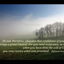 Hebrews 10:35-36 Wallpaper
