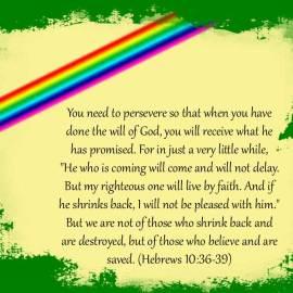 Hebrews 10:36-39 Wallpaper