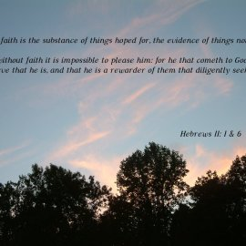 Hebrews 11:1 and 6 Wallpaper