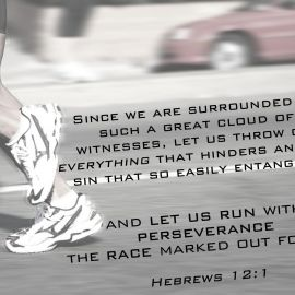 Hebrews 12:1 Wallpaper