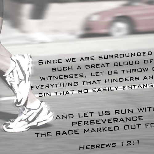 Hebrews 12:1 christian wallpaper free download. Use on PC, Mac, Android, iPhone or any device you like.