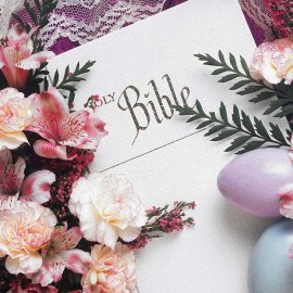 Holy Bible and Flowers Wallpaper