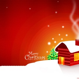 House in Christmas Wallpaper