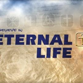 I believe in eternal life Wallpaper