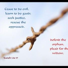 Isaiah 1:16-17 Wallpaper