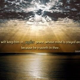 Isaiah 26:3 Wallpaper