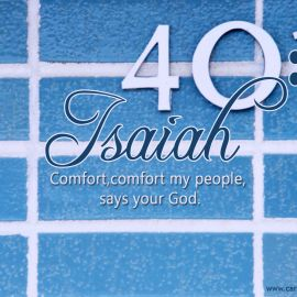 Isaiah 40:1 Wallpaper