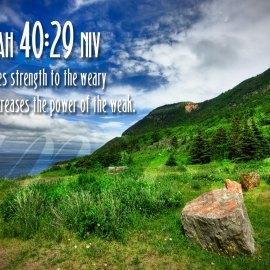 Isaiah 40:29 Wallpaper