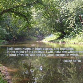 Isaiah 41:18 Wallpaper