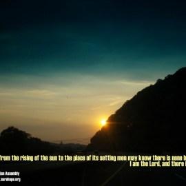 Isaiah 45:6 Wallpaper