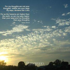 Isaiah 55:8-9 Wallpaper