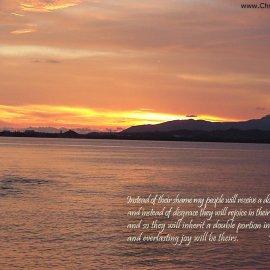 Isaiah 61:7 Wallpaper