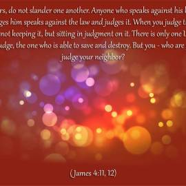 James 4:11-12 Wallpaper