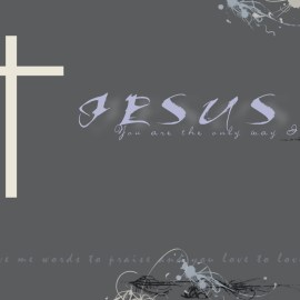 Jesus – the only way Wallpaper