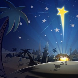 Jesus and Christmas – Star Wallpaper
