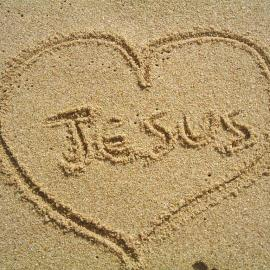 Jesus in the sand Wallpaper
