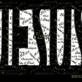 Jesus names Wallpaper