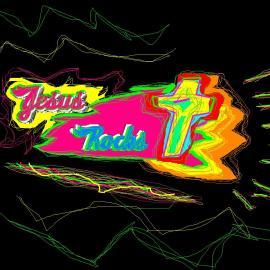 Jesus rocks Wallpaper