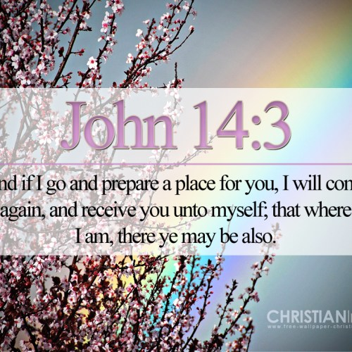 John 14:3 christian wallpaper free download. Use on PC, Mac, Android, iPhone or any device you like.