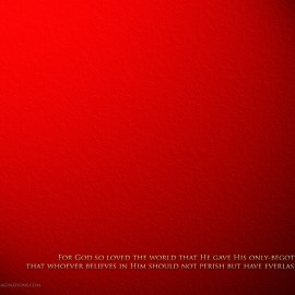 John 3:16 – Red Wallpaper