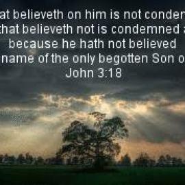 john 3:18 Wallpaper