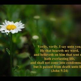 John 5:24 Wallpaper