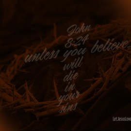 John 8:24 Wallpaper
