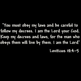 Leviticus 18: 4-5 Wallpaper