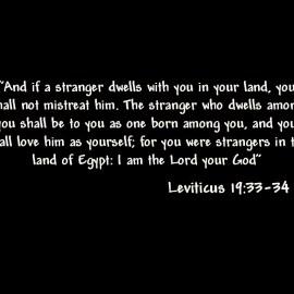 Leviticus 19: 33-34 Wallpaper