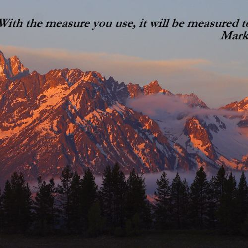 Mark 4:24 christian wallpaper free download. Use on PC, Mac, Android, iPhone or any device you like.